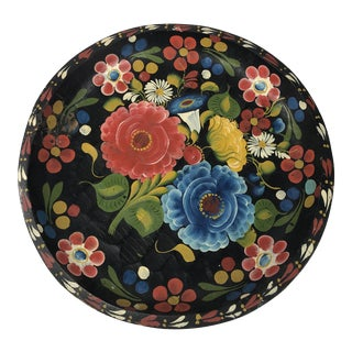 1940s Folk Art Mexican Batea Bowl For Sale