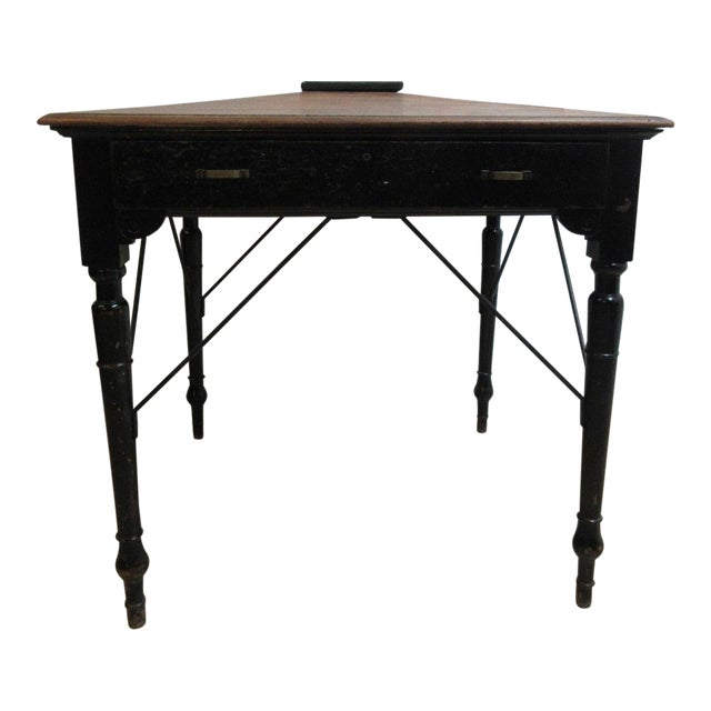 Antique Victorian Primitive Slant Top Plantation Writing Desk For Sale