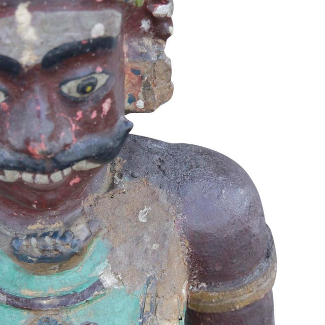 Antique Tribal Warrior Statue For Sale - Image 4 of 8