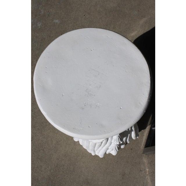 Vintage Plaster Rope Fringe Tassel Side Table / Drinks Table / Stool For Sale - Image 4 of 13