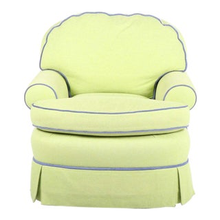 Vintage Summer Hill Contemporary Upholstered Accent Chair For Sale
