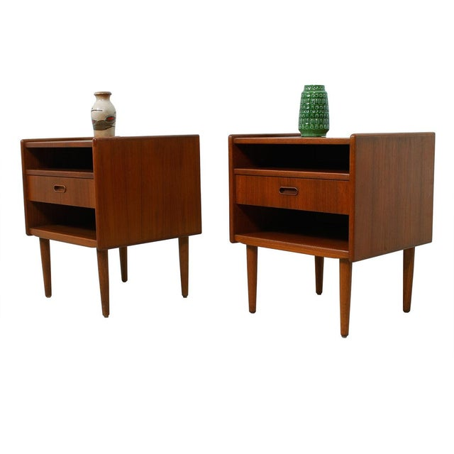 Teak Danish Modern End Tables by Falster - Pair - Image 6 of 6