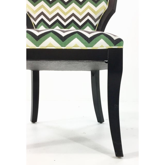 Modern Currey and Co. Green Herringbone Garbo Side/Desk Chair For Sale - Image 3 of 6
