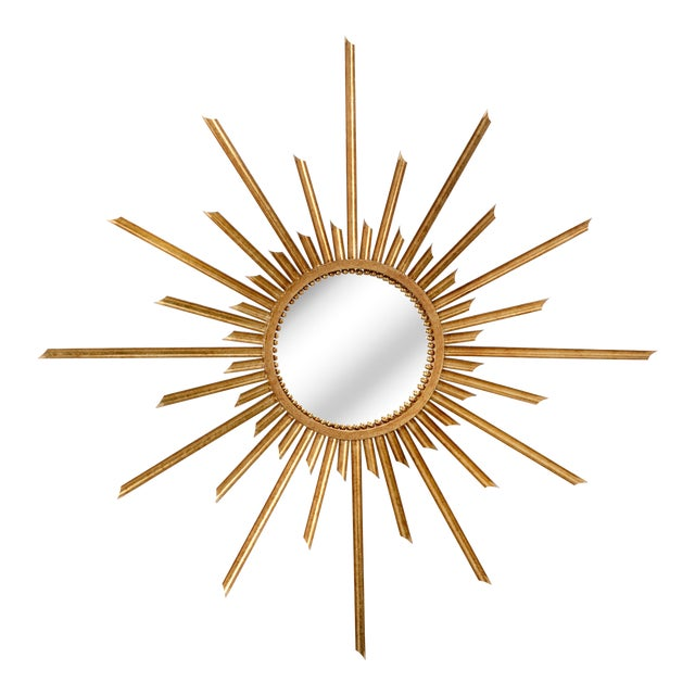 Ra Wall Mirror in Gold For Sale