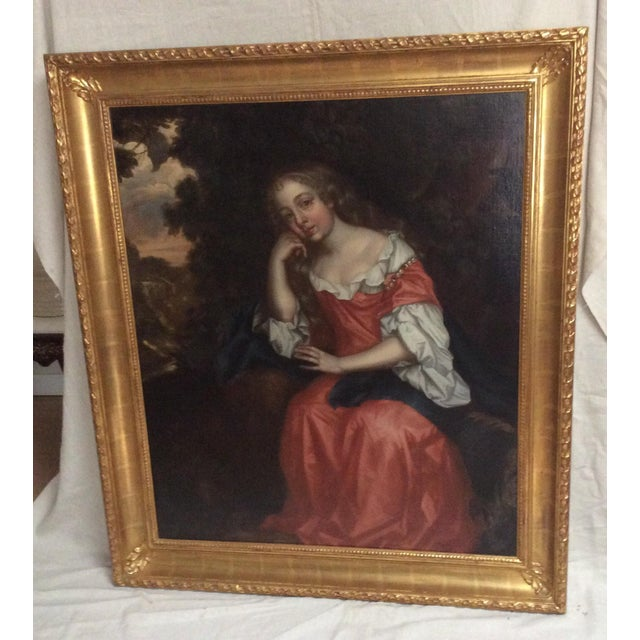 Fine oil painting on canvas in mint condition in beautiful new frame. This has a description on the back that says this is...