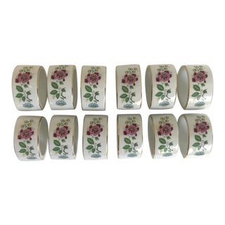 1960s Vintage House of Prill Bird of Paradise Napkin Rings - Set of 12 For Sale