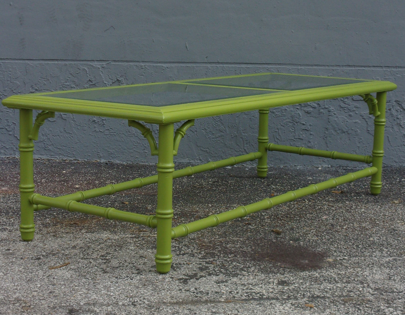 Vintage Apple Green Palm Beach Style Coffee Table Chairish