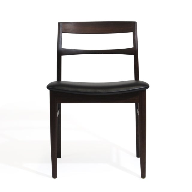 Mid 20th Century Rare Arne Vodder Solid Rosewood Dining Chairs - Set of 8 For Sale - Image 5 of 13