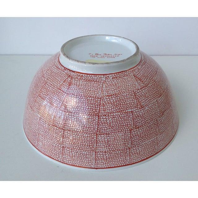 Vintage Asian Hand Decorated Porcelain Bowl For Sale - Image 9 of 11