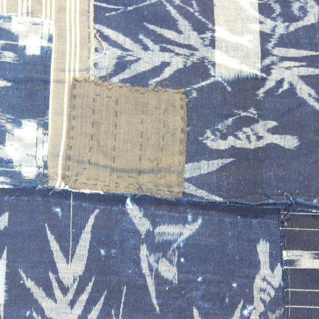 Textile Antique Kasuri Japanese Boro Blanket/Cloth For Sale - Image 7 of 10