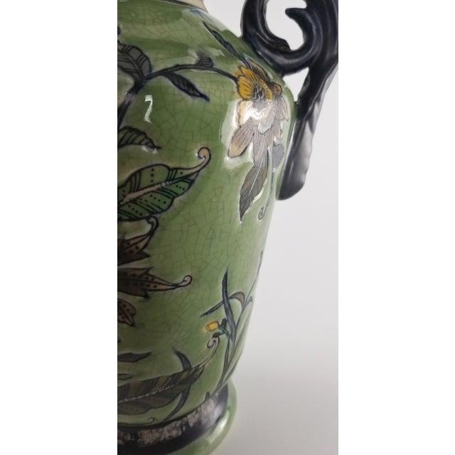 Monumental Baum Bros Vase - Jacobean Urn With Handles For Sale - Image 11 of 13