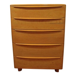 Mid-Century Modern Heywood Wakefield Encore Champagne Tall Chest