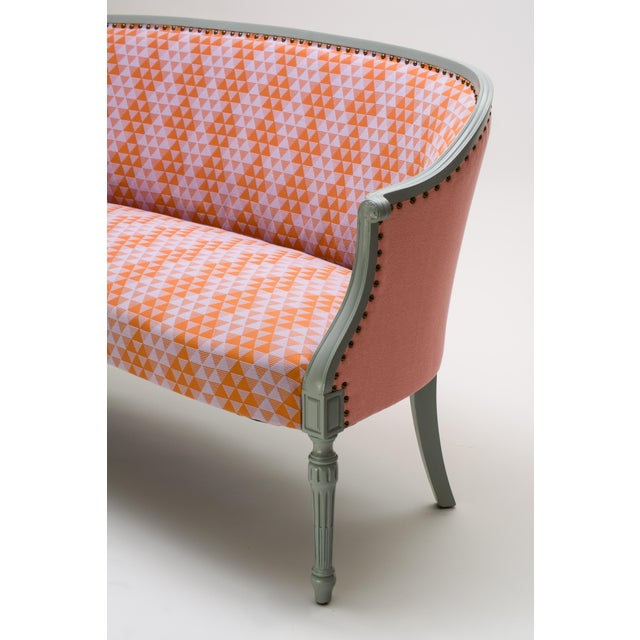 Shabby Chic Early 20th Century Milton Textiles Early 20th Century Antique Settee For Sale - Image 3 of 7