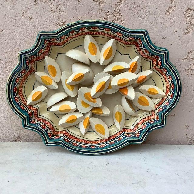 Antique White 1930 Majolica Trompe l'Oeil Eggs Platter For Sale - Image 8 of 8