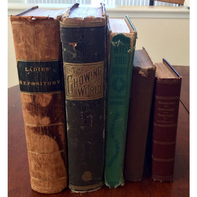 Antique Distressed Books - Set of 5 - Image 2 of 11