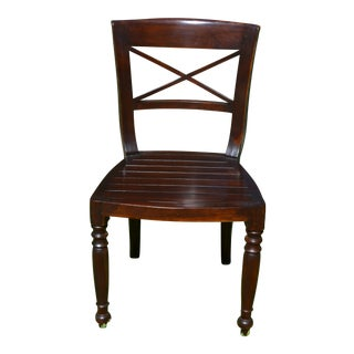 Set of Six Dutch Colonial Style Side Chairs