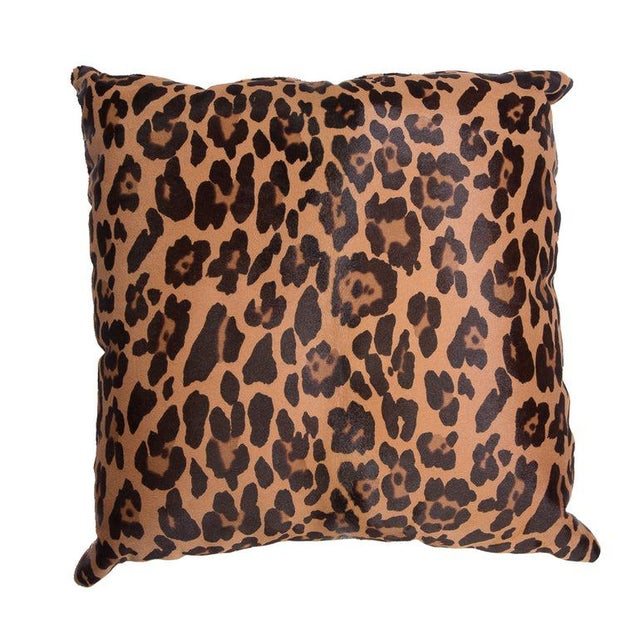 Contemporary Leopard Stenciled Calf Hair Pillows For Sale - Image 3 of 5