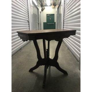 Antique Queen Anne Victorian Carved Side Table Preview
