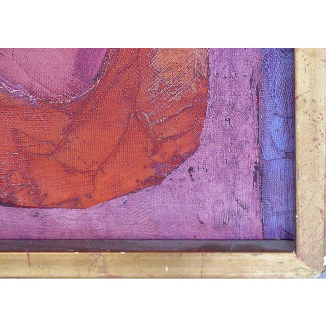 """1960s Abstract Oil Painting """"Madrid 1961"""" by Important Spanish Artist Luis Quintanilla For Sale - Image 5 of 10"""