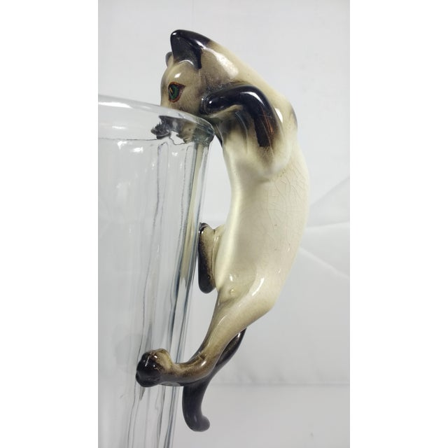 Vintage Hand-Painted Ceramic Hanging Siamese Cat - Image 5 of 7