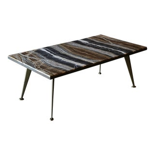 1960s Mid-Century Modern Richard Blow for Montici Onyx Coffee Table For Sale