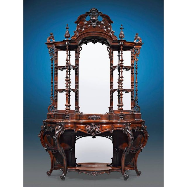 Rococo Revival Rosewood Étagère by Thomas Brooks For Sale - Image 4 of 6