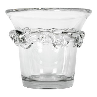 Vintage France Daum Crystal Ice Bucket For Sale