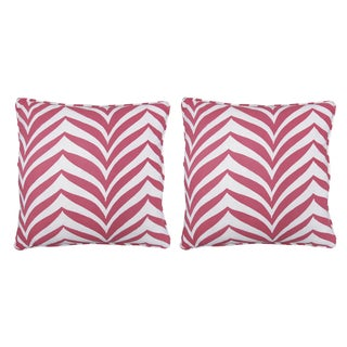 Katherine Rally Pink Madagascar Pillows - Pair For Sale