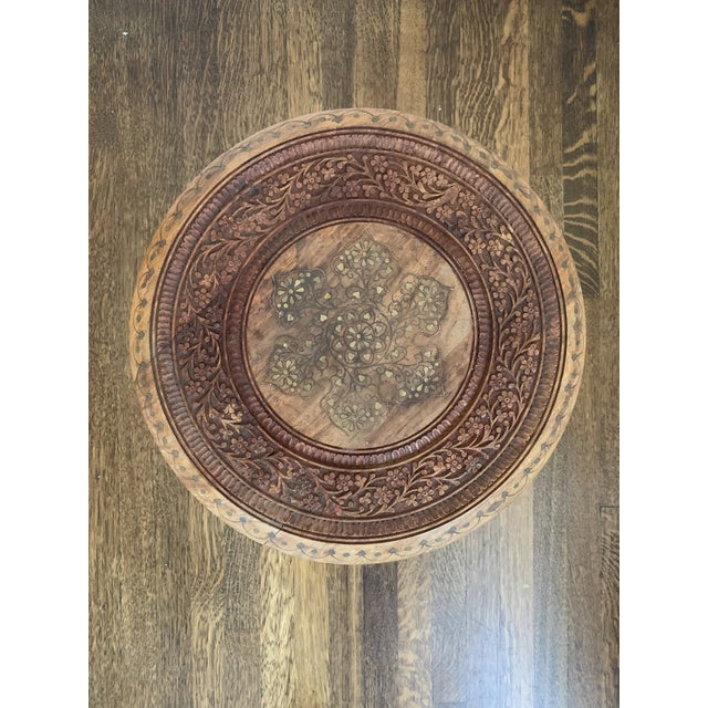Moroccan Octagonal Side Table For Sale - Image 4 of 7