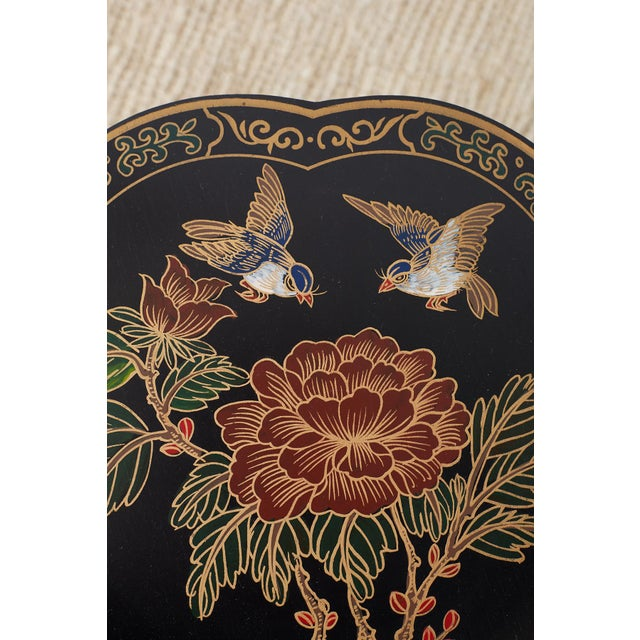 Black Pair of Polychrome Garden Seats or Drink Tables For Sale - Image 8 of 13