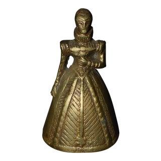 Brass Elizabethan Lady Bell