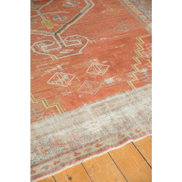 "Terra Cotta Vintage Distressed Mahal Carpet - 6'5"" X 9'2"" For Sale - Image 8 of 13"