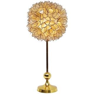 Mother of Pearl Table Lamp, Belgium 1970