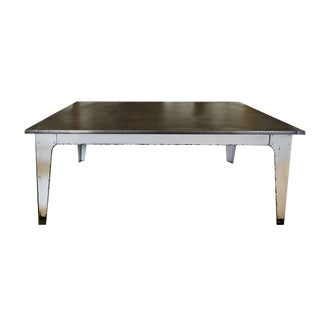Contemporary Industrial Metal Table For Sale