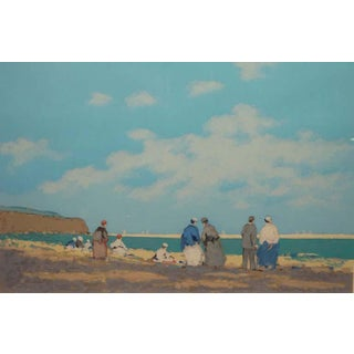 """Dinard"" Limited Edition Serigraph Numbered and Signed by Frederick McDuff For Sale"