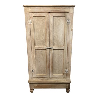 Late 20th-Century Shabby Chic Armoire Media Cabinet For Sale