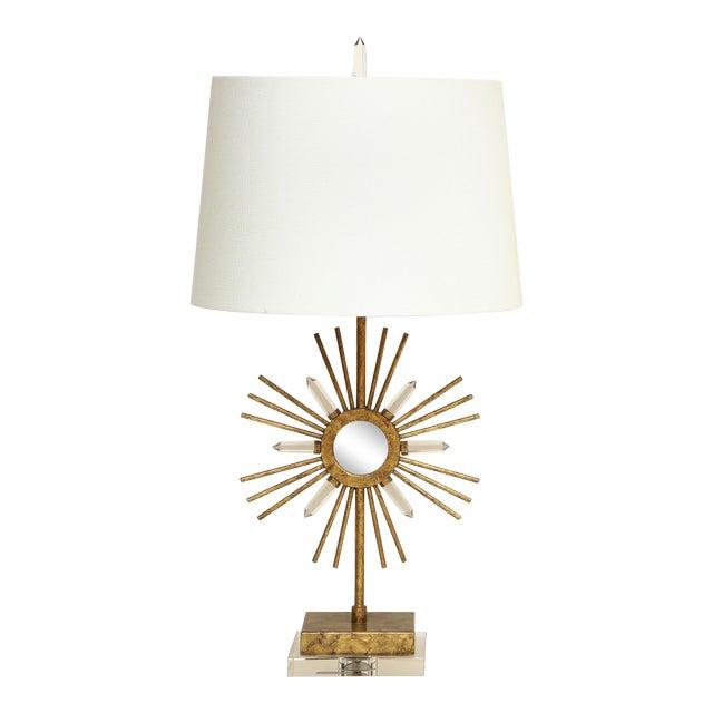 Gilt Metal Sunburst Lamps For Sale