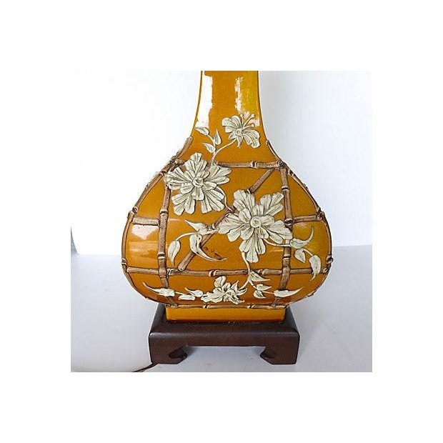Asian Bamboo Design Table Lamp - Image 7 of 7