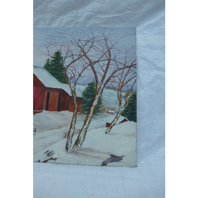 The Old Red Barn Painting by H.L. Musgrave For Sale - Image 5 of 6