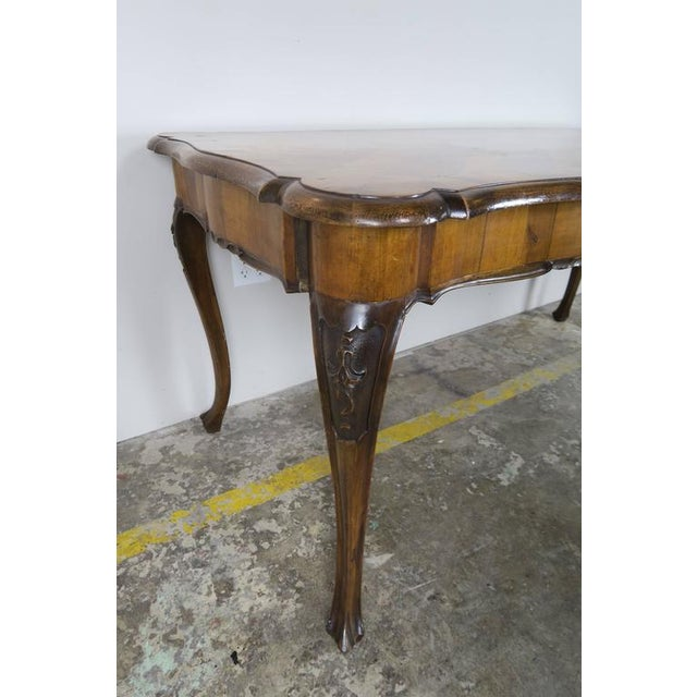 Veneer French Inlaid Walnut Veneered Writing Table, Circa 1900 For Sale - Image 7 of 11