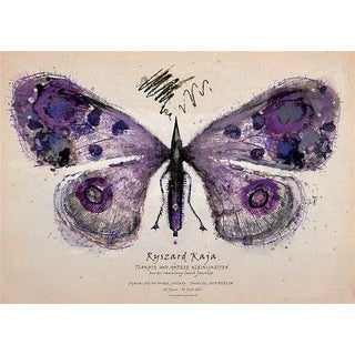 Polish Purple Butterfly Poster