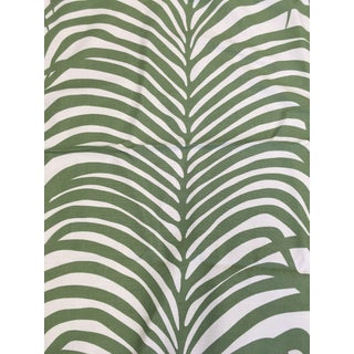 Schumacher Green Zebra Palm Fabric For Sale