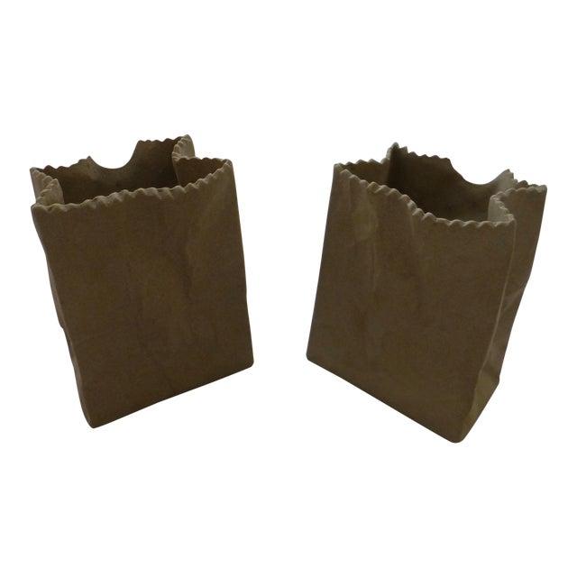 Tapio Wirkkala Rosenthal Paper Bag Vases- A Pair For Sale