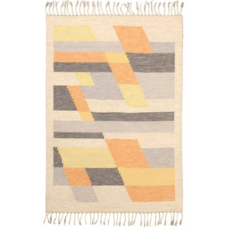 20th Century Swedish Flat Weave Rug-4′7″ × 6′7″ For Sale