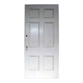 Antique Six Panel White Wooden Door
