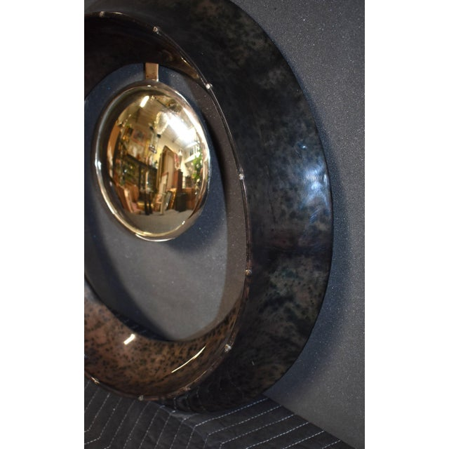 Resin Parchment Convex Mirror For Sale - Image 7 of 10