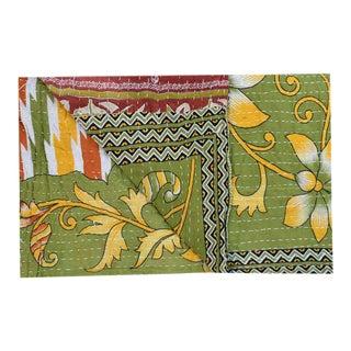 Reversible Cotton Kantha Quilt