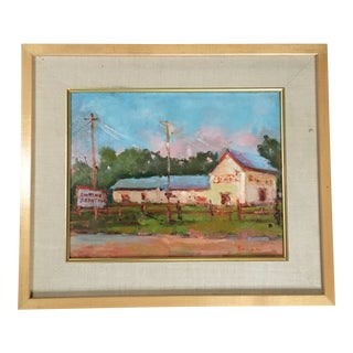 Antique Depot in Los Alamos Painting by Kanya Bugreyev For Sale