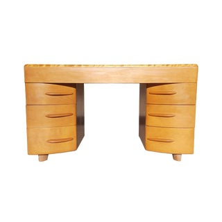1960s Mid-Century Modern Heywood Wakefield Partner Desk For Sale