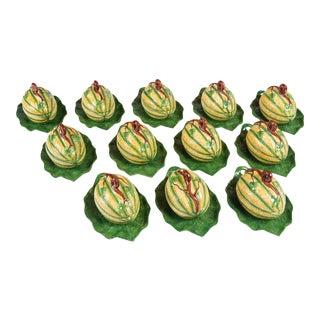 Mottahedeh Melon Form Tureens - Set of 12 For Sale